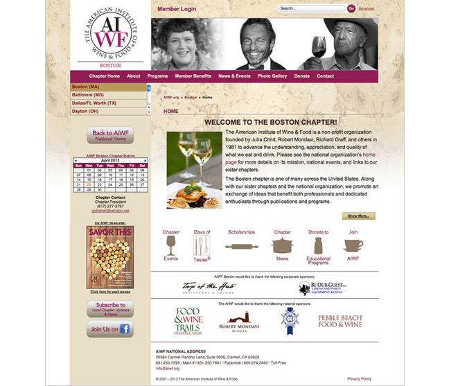 AIWF Web design