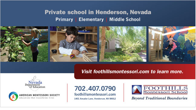 Foothills Montessori card