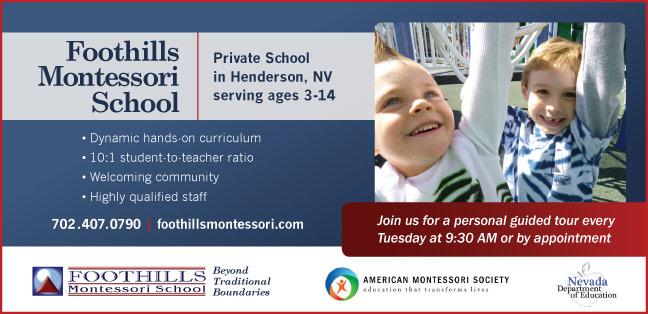 Foothills Montessori ad