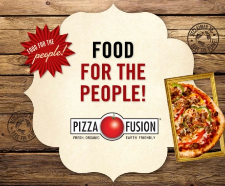 Pizza Fusion Website, Slides, Social Media Elements