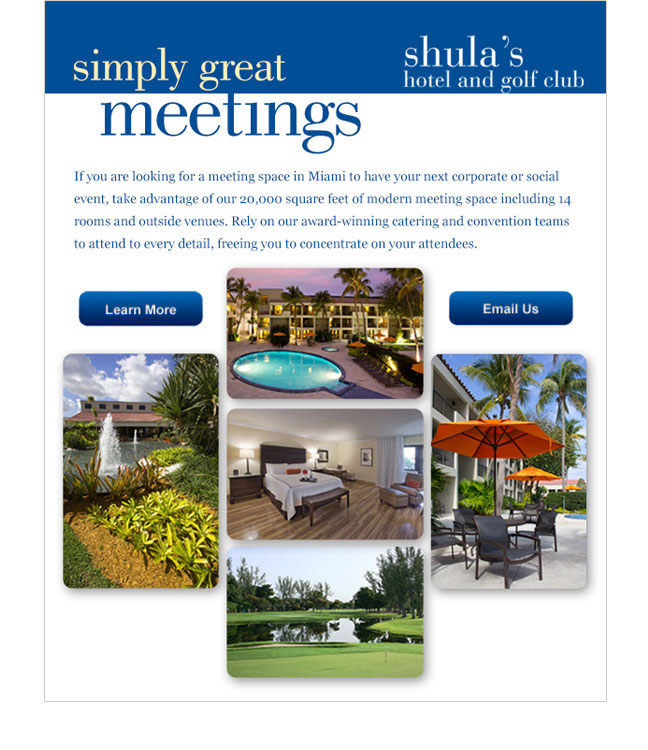 Shula's Meetings email