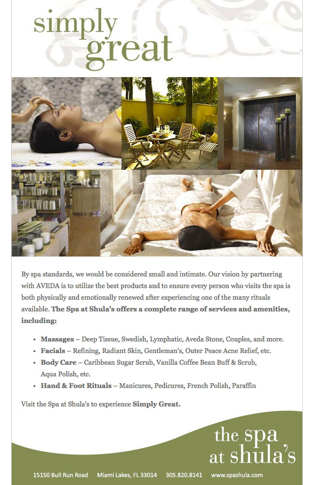 Shula's Spa Email