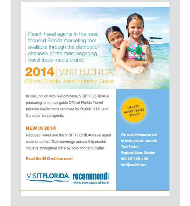 Visit Florida Guide email