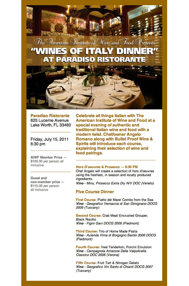 Wines of Italy email