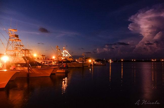 Keys Boats at Night