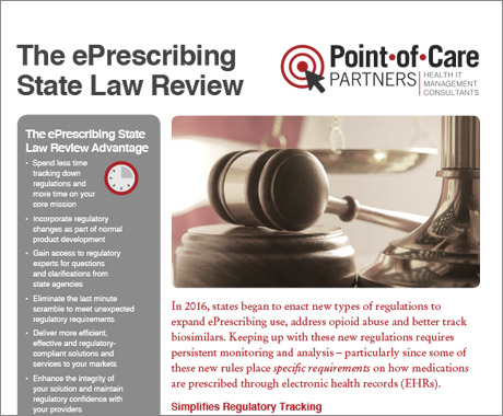 POCP Overview and ePrescribing Flyer