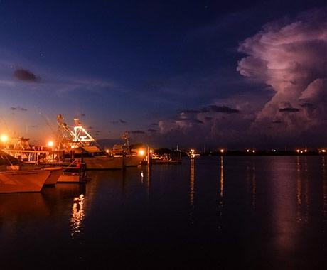 Keys Dock at Night