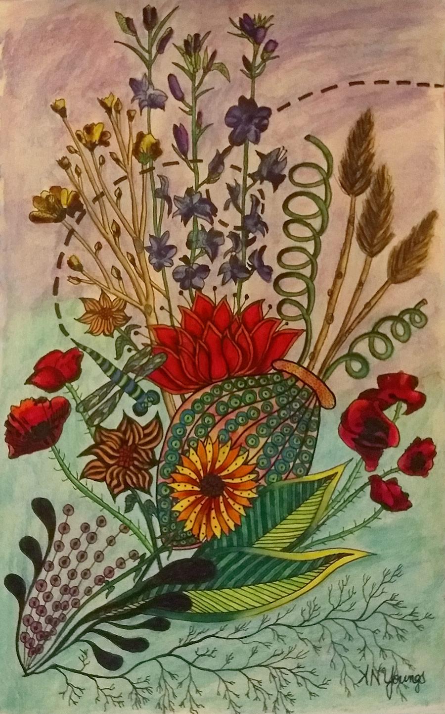 Summer Flower Garden - Aimee N. Youngs | Aimee N. Youngs