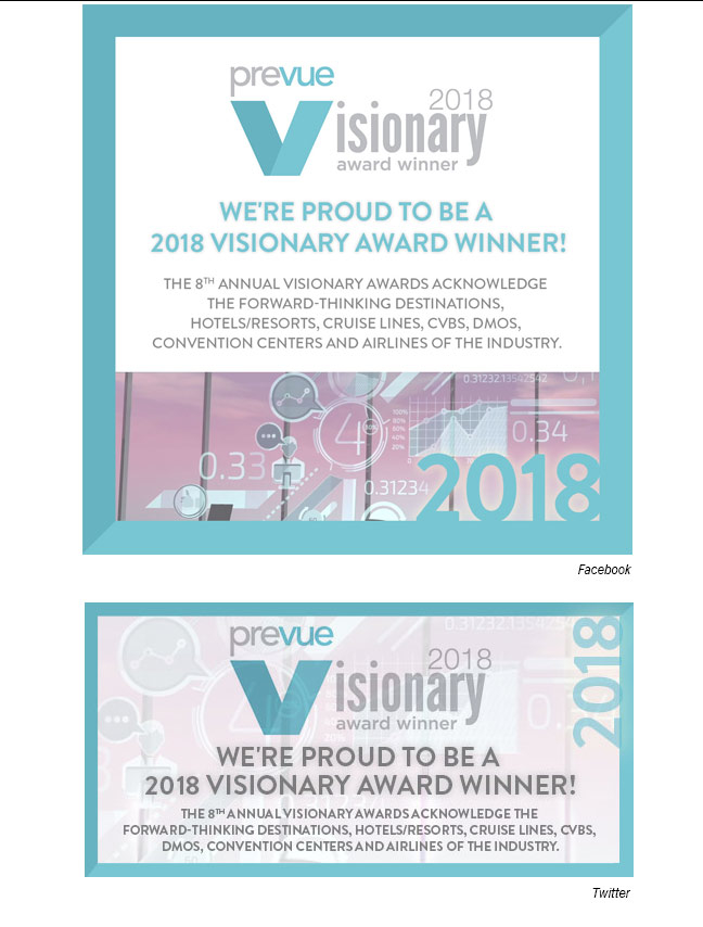 Visionary awards Facebook and Twitter
